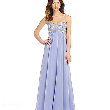 B. Darlin Jeweled Babydoll Bodice Gown | Dillards.com