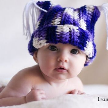 Baby Hat Tassel Hat Crochet Hat Jester Hat Photo by Monarchdancer