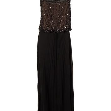 Xscape Women's Embellished Pleated Gown
