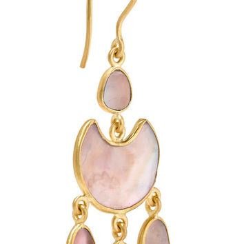 Pippa Small - 18-karat gold shell earrings