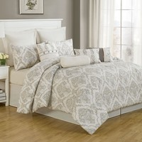 10 Piece King Folsom 100% Cotton Comforter Set
