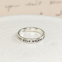 Personalised Silver Message Ring
