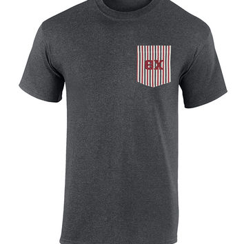 Theta Chi American Flag Theme Pocket Tee
