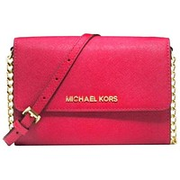MICHAEL KORS women's fashion shopping leather shoulder bag F Red