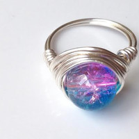 WATER Wire Wrap Ring - 4 Elements Collection