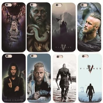 Vikings Cover Case For iphone 4s 5s 6 6s 7 plus for Samsung s4 s5 s6 s7 Edge Hard plastic phone case