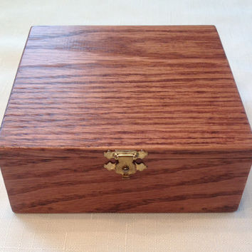 Oak Handcrafted Jewelry Box-FREE SHIPPING!