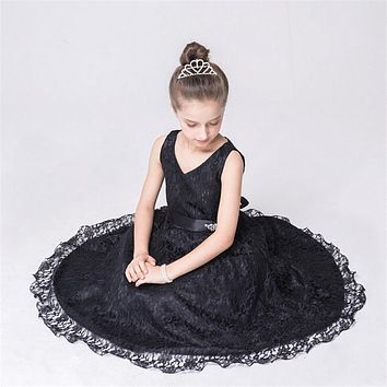Princess Girl Dress  Baby Girls Sequins Tulle Flower Party Dress Gown Formal Wedding Dresses