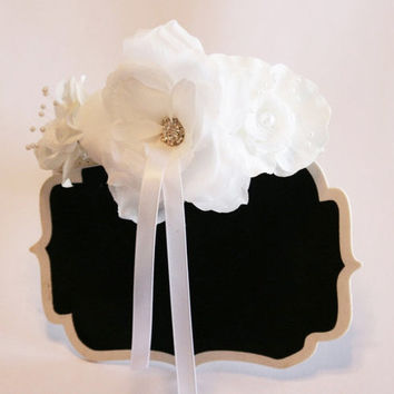 Proposal Floral Dog Collar, Bridal Sign, Here Comes the Bride Ring Bearer board