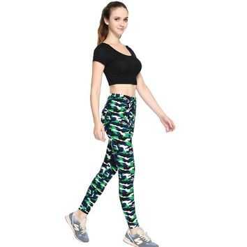 Camouflage Army Green Leggings
