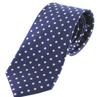 Tok Tok Designs Men's Necktie (N31, Navy Blue, 100% Silk)