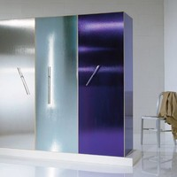 Frosted glass wardrobe Ettore Sottsass Limited Edition Collection by OAK Industria Arredamenti | design Ettore Sottsass jr
