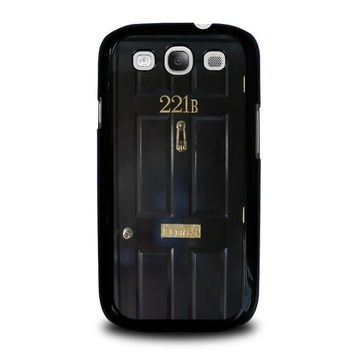 the door of sherlock holmes samsung galaxy s3 case cover  number 1