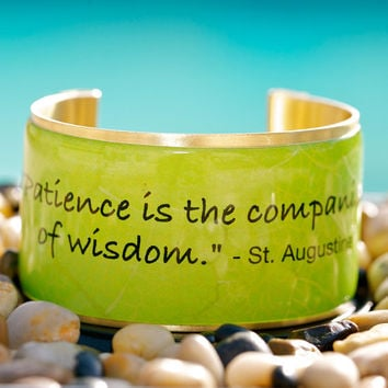 Rustic Cuff Quote Cuff  Patience is the companion of by RusticCuff