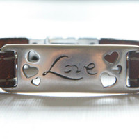 Engraved Bracelet - Women Leather Bracelet With Love Message