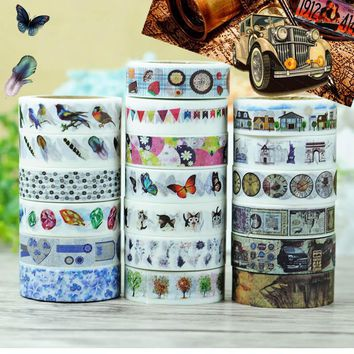 Free Shipping DIY 10M Cute Kawaii Scrapbook Washi Tape Lovely Lace Flower Adhesive Masking Tape For Home Decoration 538