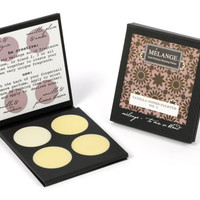 Vanilla Notes: Melange Solid Perfume Blending Palette. Four hand-poured perfumes to wear alone or layer & custom blend