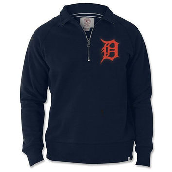 47 Brand Tigers Cross Check 1/4 Zip - Navy