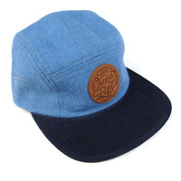 Quiet Life: Day Flannel 5 Panel Hat - Blue