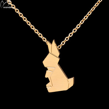 Bunny Rabbit Pendant Necklace Gold or Silver