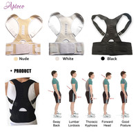 Adjustable Magnetic Posture Corrector Male Corset Back Belt Straightener Band Brace Shoulder Braces & Supports for Men Women