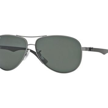 sunglasses Ray Ban RB8313 CARBON FIBRE green polarized 004/N5