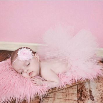 Baby Photography Props Newborn Girls Skirt Costume Recem Nascido Foto Baby Tutu Skirt  Photo Props Dress with Headband
