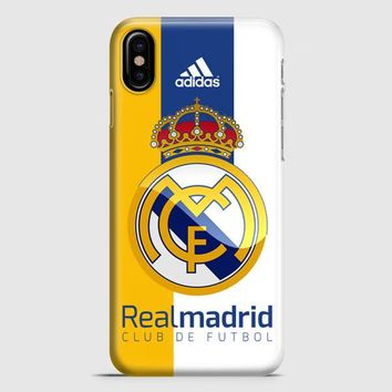 Real Madrid Fc Jersey Black Adidas iPhone X Case