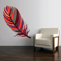 Full Color Wall Decal Mural Sticker Decor Art Feather American Naitive (col758)
