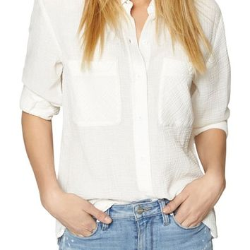 Sanctuary Steady Boyfriend Roll Tab Shirt (Regular & Petite) | Nordstrom