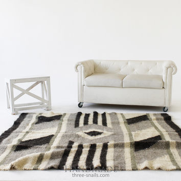 "Wool area rugs ""Gray"""