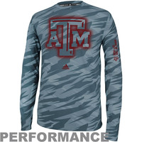 adidas Texas A&M Aggies Sideline Elude Fitted Long Sleeve Performance T-Shirt - Camo