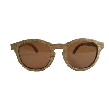 Mato Handmade Eco-friendly Wood Bamboo Vintage Retro Round Circle Hipster Sunglasses