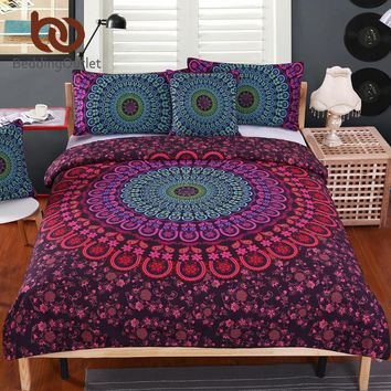 Mandala Bedding Set Soft Twill Bohemian Print 4pcs
