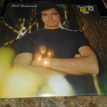 Vintage Vinyl Record Neil Diamond Heartlight - 1982 - Hurricane - Lost Among The Stars