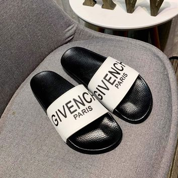 White GIVENCHY Slippers Sandals
