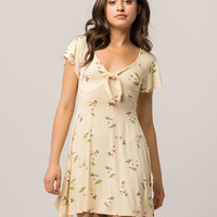 H.I.P. Floral Knot Front Dress