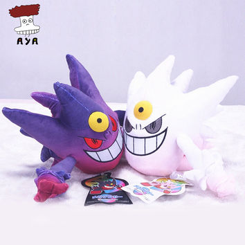 "2pcs/set Pokemon XY Plush Toys 7"" Mega Evolution Gengar Kawaii Soft Stuffed Plush Doll Kids Toys For Children Christmas Gift"