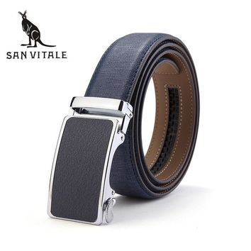 Men'S Belt Belts Famous Brand Waistband Gift Clothing Suspenders Accessories Apparel Waist Genuine Leather Man Blue Stretch