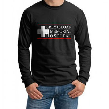 JUST LOGO Grey Sloan Memorial Hospital Grey's Anatomy on Longsleeve MEN tee