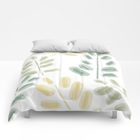 Plant Pattern Comforters by sm0w