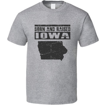 Youth Vintage Born & Raised Iowa T-Shirt