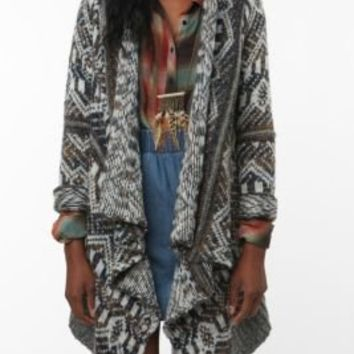 UrbanOutfitters.com > Staring at Stars Pattern Drape Open Cardigan