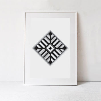 Tribal Art-Tribal Printable Wall Art-Tribal Wall Print-Instant Download-Aztec Wall Art-Black and White Print-Aztec Print-Southwestern Print
