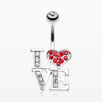 Charming LOVE Belly Button Ring