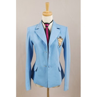 Ouran High School Host Club Haruhi Unisex Uniform Cosplay Costume Jacket+Tie Set