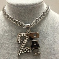 Boys & Men Fashion Hip Hop 2PAC Necklace