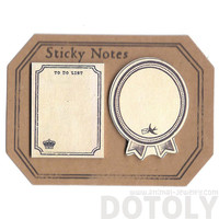 Classic Vintage Frames Shaped To Do List Sticky Post-it Memo Note Pad | Cute Vintage Inspired Scrapbook Supplies