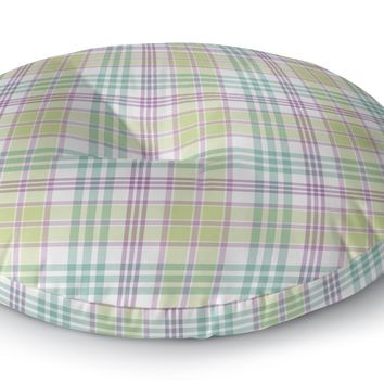 APRIL EASTER PLAID Floor Pillow By Northern Whimsy