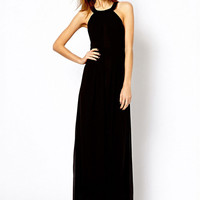 Halter Strappy Backless Sheath A-Line Maxi Dress